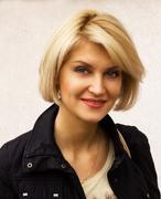 Portrait of pretty woman outdoor Stock Photos