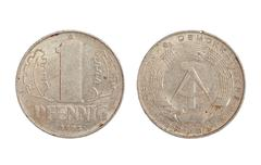 Stock Photo of rare coin of democratic germany republic
