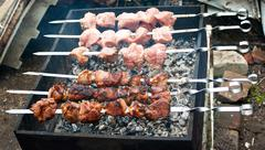 preparation shashlik - stock photo