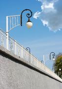 Stock Photo of streetlights near railway station