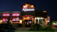 Applebees Restaurant front entrance Stock Footage