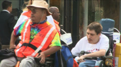 Disability Rights Protest Stock Footage