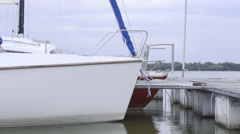 Docked boats Stock Footage