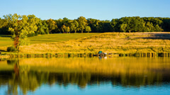 Tent by the Lake Stock Footage