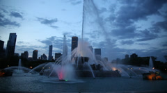 Chicago Buckingham Fountain Stock Footage