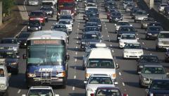 Traffic in Los Angeles - California Freeway Stock Footage