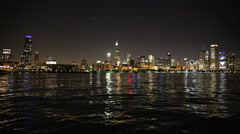 Chicago at Night - stock footage