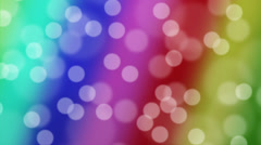 Bokeh Animated Background-Rainbow Stock Footage
