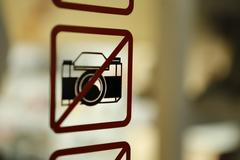 Taking Photo is not allowed Stock Photos