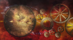Time Gears - Steampunk - stock footage