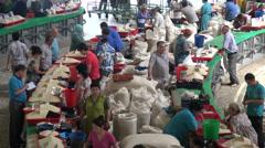 Chorsu bazaar in Tashkent Stock Footage