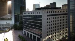The grande arch i la defense, paris france, business Stock Footage