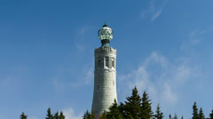 Massachusetts Veterans War Memorial Tower, Mt Greylock Stock Footage