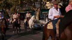 San Pedro Alcantara feria, (fair) Stock Footage