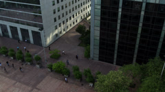 people at the grande arch i la defense, paris france, business - stock footage