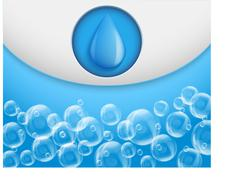 SPA aqua jacuzzi background with drop and bubbles Stock Illustration