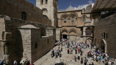 Church of the holy sepulchre 0913 3 Stock Footage
