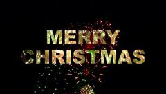 Merry Christmas Fireworks 02 Stock Footage