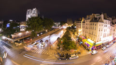 Streets sorrounding notre dame, paris france Stock Footage