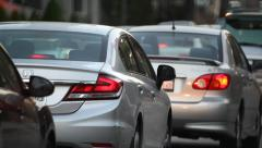 Traffic in Los Angeles, California - stock footage