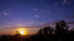 Tropical Sunrise, Sunsets, Clouds time lapse - CLIP 1 - stock footage