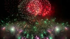 Spectacular fireworks display. Loop. Stock Footage