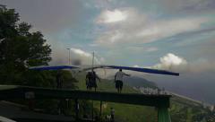Hang gliding Rio de Janeiro Stock Footage