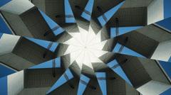 Kaleidoscope pattern, grande arch in paris france Stock Footage
