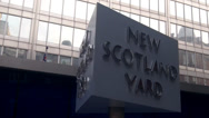Stock Video Footage of New Scotland Yard Revolving Sign