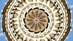 Kaleidoscope pattern, paris france Stock Footage