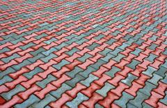 Stock Photo of paving stones texture as background