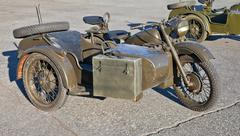 Old military motorcycle Stock Photos