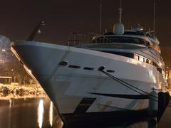 yacht prow - stock photo