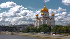 Cathedral of Christ the Saviour. Russia,Moscow time lapse Stock Footage