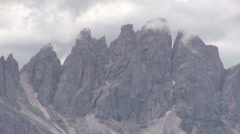 Italy - Dolomites - View from Plose area Stock Footage
