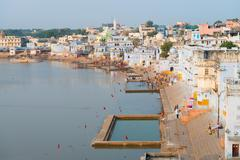 Holy sacred place for hindus town pushkar, india Stock Photos