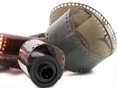 Stock Photo of film strip and roll