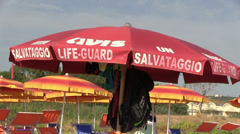Italy - Beach rescue Stock Footage