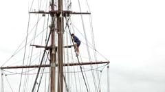 Ship Atyla at Lycamobile Mediterranean Tall Ships Regatta 2013 Stock Footage