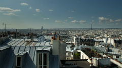 Montmatre rooftops, paris france Stock Footage