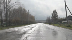 Driving through the village in Russia Stock Footage