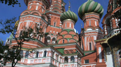 Saint Basils Cathedral tilt up Stock Footage