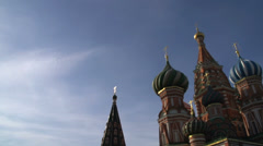 Saint Basils Cathedral tilt pan Stock Footage