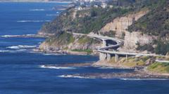 Sea cliff bridge Stock Footage