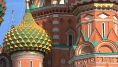 Saint Basils Cathedral tilt close up down Stock Footage