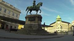 Albertina in Vienna Stock Footage