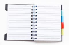 Open ring binder notebook Stock Photos