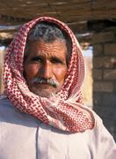 portrait of bedouin man - stock photo