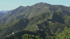 Landscape view from the great wall Stock Footage