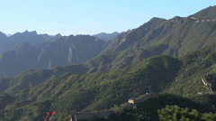 The Great Wall landscape pan Stock Footage